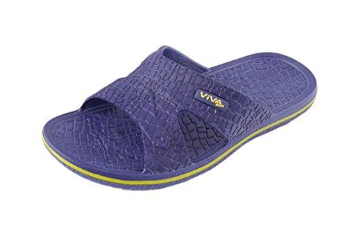 Chaussures de bain badeschl Appen badelatschen Plage Chaussures–Noir, Bleu, anthracite 40–45 Bleu - Bleu