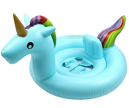 Baby Schwimmring, Unicorn Schwimmsitz für Baby Aufblasbarer Schwimmen Sitz Schwimmtrainer Schwimmhilfe Schwimmreifen für Kleinkind zum Sitzen im Pool