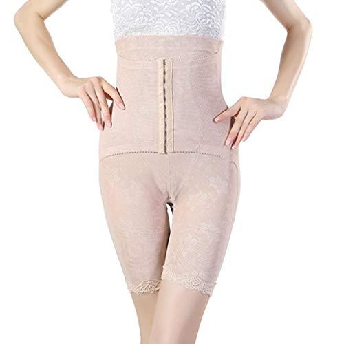 Rabbiter Damen Shapewear Figurformender,Spitze Atmungsaktiv Formende Bodys, Elegant Hohe Taille Taillenformer angenehm Shaping Bodysuit mit Haken - 2
