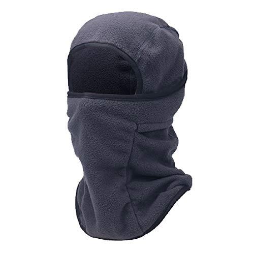 TRIWONDER Balaclava Hood Hat Thermische Fleece Gesichtsmaske Halswärmer Full Face Abdeckkappe Winter Ski Maske (Dunkelgrau)