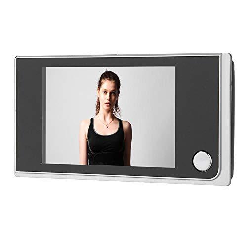 Mugast Digitaler Türspion,120 Grad Sichtwinkel 3.5 Zoll LCD Display Digital Türkamera Türklingel,Batteriebetrieben Digital Türspion-Kamera Viewer Überwachungskamera für Türstärke von 35-100mm Digital Viewer