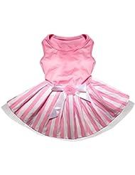 Robe de princesse pour chiens Elyseesen Chiot jupe princesse rose chien belle robe