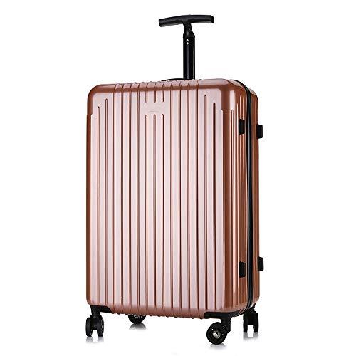 FDSjd Imbarco da viaggio per bagaglio di password PC per PC universale con ruote ultraleggere (colore : Oro rosa, dimensioni : 24 inches)