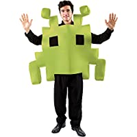 Adult Green Space Arcade Game Fancy Dress Costume