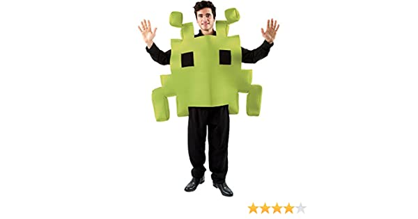 Cartoon Characters 80s Fancy Dress : Adult green space arcade game fancy dress costume: amazon.co.uk
