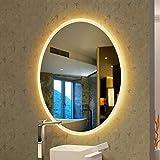 ZY Bathroom Mirror Miroirs cosmétiques muraux Miroir de Salle de Bains fixé au Mur,...