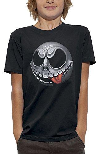 nimierte T-Shirt Herr Jack in Augmented Reality Kind - Größe 9/11 Jahre - Schwarz (Virtuelle Halloween)