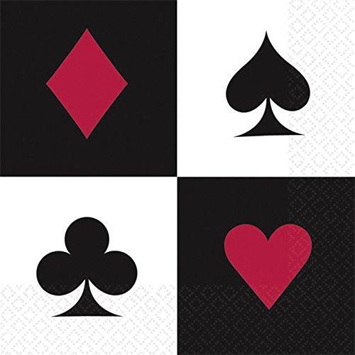 ail Servietten Poker Spiel 16 STK. 25 cm ()