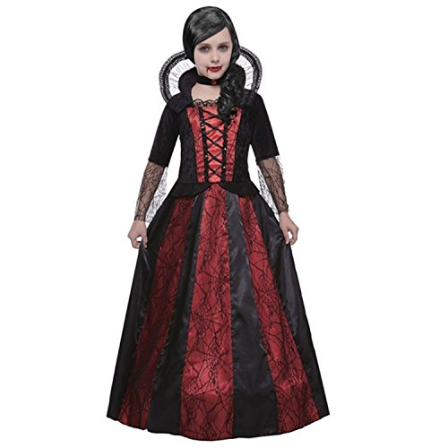 Widmann 07457 Kinderkostüm Viktorianische Vampirin, 140 (Viktorianische Kinder Kostüme)