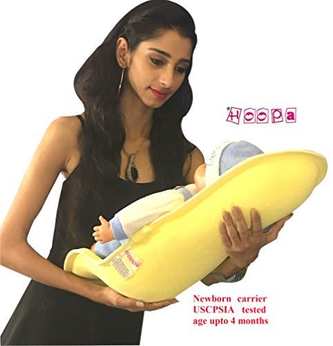 HOOPA Feeding Pillow, Yellow   Feeding Pad   Infant Carrier   Newborn Carrier   Nursing Pad, Reclined Carrier (Yellow)