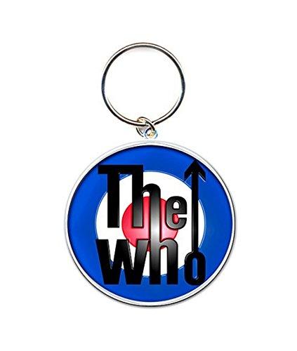 The Who Llavero Keychain Mod Target band Logo Oficial nuevo Plata