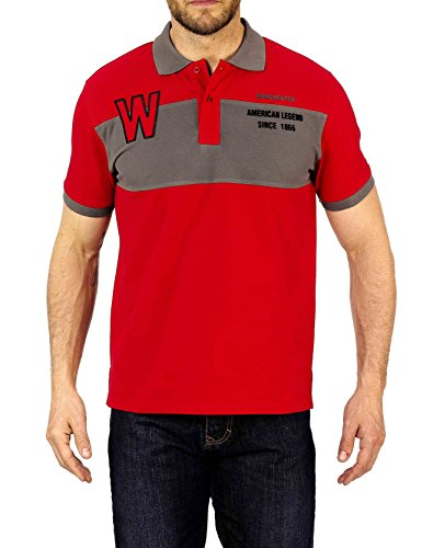 Winchester roadster2Polo Short Sleeve Größe 3x L rot