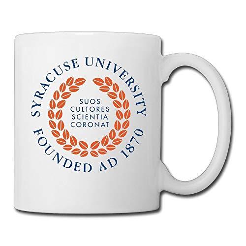 FLOOUY Syracuse University Private Research University Ceramic Coffee/Tea Mug Custom Mug White 11oz for Daily Use Syracuse Restaurant