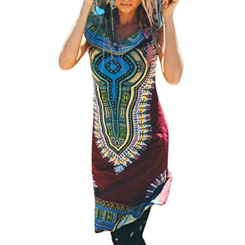 b5a245cedd8c Momoxi Vestito Vestito Donna Elegante Lunghi da Donna a Maniche Lunghe  Larghi a Maniche Corte2019 Nuova