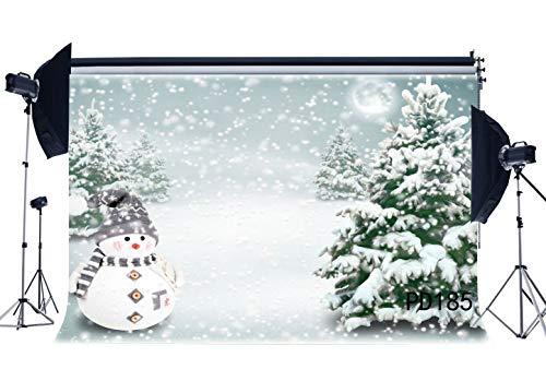 cm Dünne Vinyl Fotografie Kulissen Weihnachtsthema Fallende Schneeflocken Schneemann Schnee Winter Szene Weihnachtsbaum Nahtlose Frohe Weihnachten Hintergrund Foto Studio PD185 ()