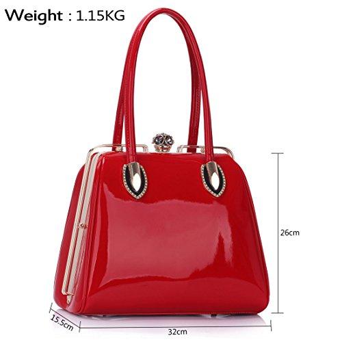 Trendstar Womens Handbags Da Donna Lavoro In Ecopelle Toteschulterdesigner Rosso