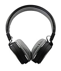 SH12 wireless/ Bluetooth Headphone With FM and SD Card Slot/ with music and calling controls (black)
