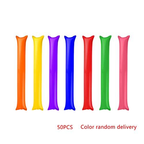 Nowear 50pcs Inflatable Beifall Sticks für Partei-Dekor Spaß-Musik-Schlag Bar zufällige Farbe - Partei Material Für Dekore Die