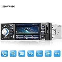 ICOCO Bluetooth Autoradio, 4.1 inch 1080P MP5-Player, Audio Empfänger/MP3/MP4/AM/FM/USB/SD/MMC/WMA mit Fernbedienung