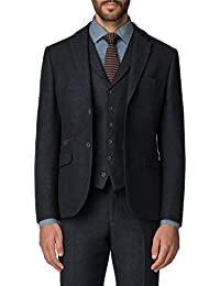 Racing Green Navy Herringbone Tailored Fit Blazer 0049635 by Suit Direct