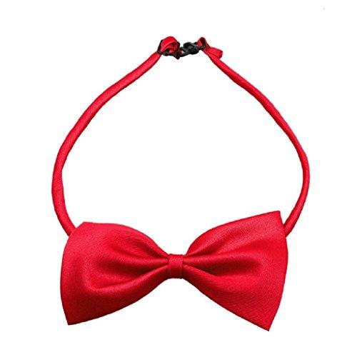 Loveso-Haustier Hunde Art und Weise nette Hundewelpen -Katze-Kätzchen-Haustier-Spielzeug Kid Fliege Krawatte Kleidung (Einheitsgröße, Rot)