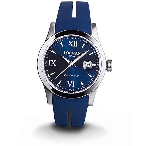 orologio solo tempo uomo Locman Island casual cod. 0614A02-00BLWHSB