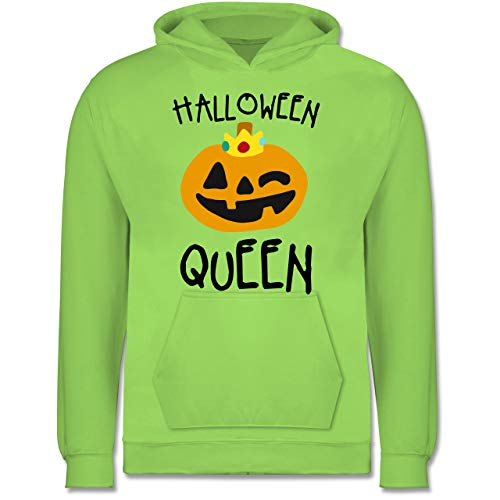 Shirtracer Anlässe Kinder - Halloween Queen Kostüm - 9-11 Jahre (140) - Limonengrün - JH001K - Kinder Hoodie