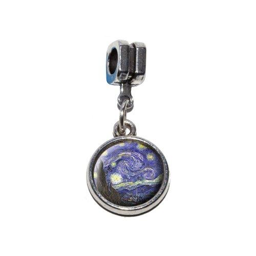 cent Van Gogh Italienische europäischen Euro-Stil Armband Charm Bead–für Pandora, Biagi, Troll,, Chamilla,, andere (Starry Night Kostüm)