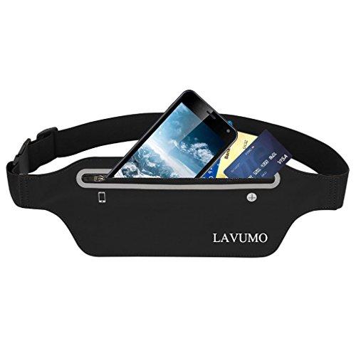 Sport Bauchtasche Flache Laufgürtel Handy Damen Herren Gürteltasche Laufen Hüfttasche für iPhone X XS 8 7 Plus Samsung S8 S9 Huawei Smartphone unter 6,5