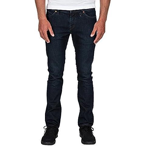 Volcom 2X4 Denim - Pantalón vaquero para hombre, color azul, talla 30/32