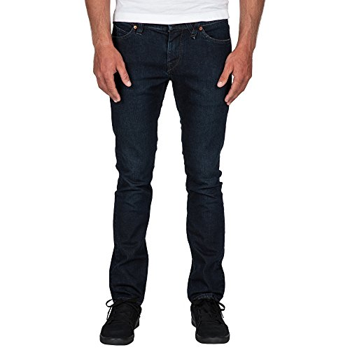 Volcom Herren, Straight Leg, Jeans, 2X4 DENIM Coastal Blue