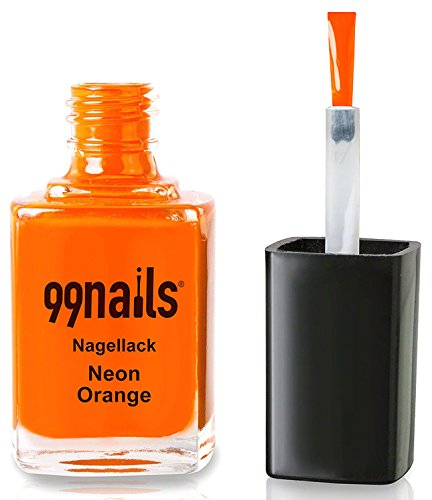 99nails Nagellack - Neon Orange, 1er Pack (1 x 12 ml)