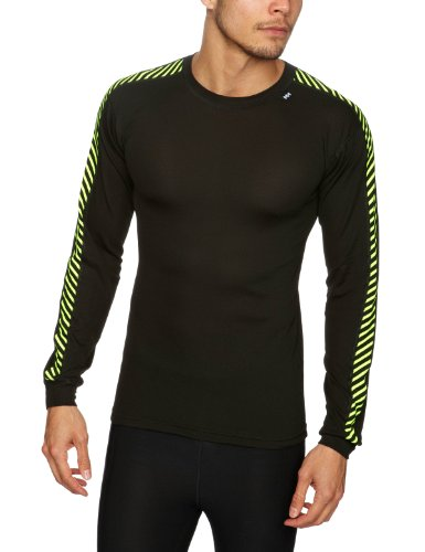helly-hansen-mens-lifa-dry-stripe-crew-black-highvis-medium
