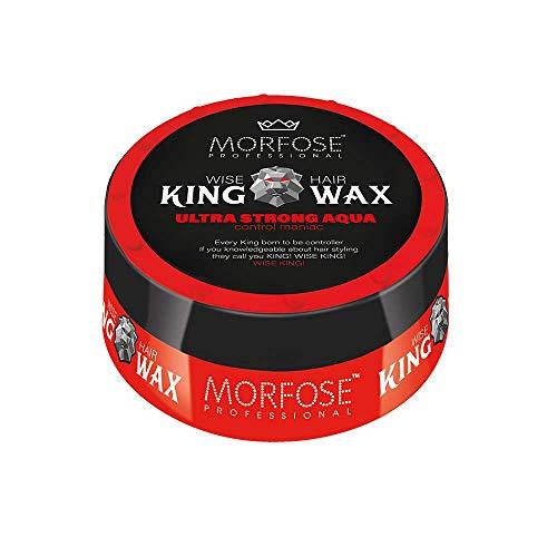Ultra-king (Morfose King Hair Wax 175ml Haarwachs Mad,Lion,Wise,Dark,Brave Haargel Matt Gel-Wax Haar Styling (1x Ultra Strong Aqua (Rot)))