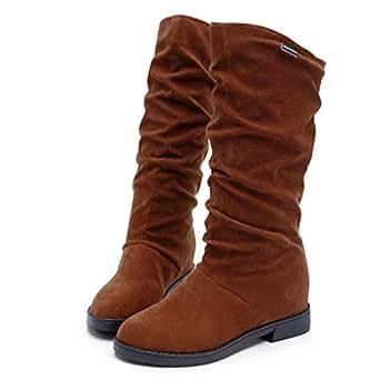 Stivali Donna , feiXIANG® Autunno inverno stivali donna dolce stivale elegante piatto scarpe snow stivali,36-40 (36, marrone)