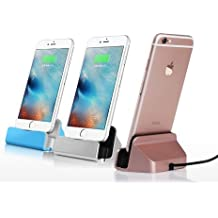 Theoutlettablet® Dock Cargador / Sincronización para Smartphone Apple Iphone 5 / 5SE / Iphone 6 / 6plus / iphone 6s / 6d plus / iphone 7 / 7 plus con conexión lightning color