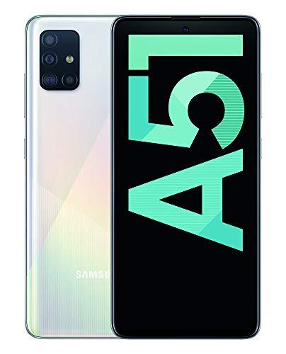 """Oferta de Samsung Galaxy A51 - Dual SIM, Smartphone de 6.5"""" Super AMOLED (4 GB RAM, 128 GB ROM, cámara Trasera 48.0 MP + 12.0 MP + 5.0 MP + 5 MP, cámara Frontal 32 MP) Blanco [Versión española]"""