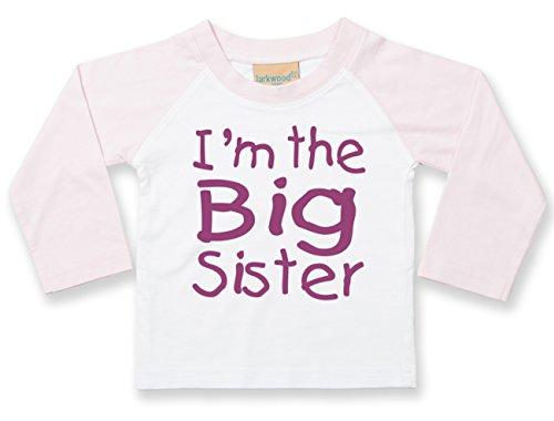 i-m-the-big-sister-infantil-de-beisbol-camiseta-de-manga-larga-con-impresion-con-purpurina-color-ros