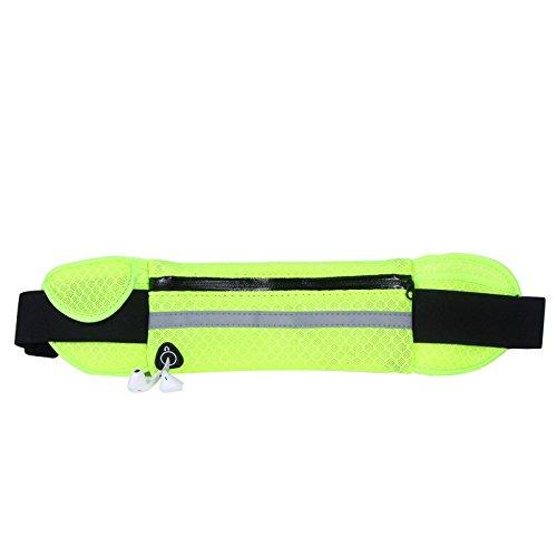 Outdoor - Tasche, Wasserdichte Tasche, Hüfte, Portemonnaie, Handy - Tasche Reisen atmungsaktive fluoreszierende grün