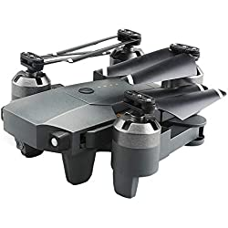 Quadcopter Drone con cámara de vídeo en vivo, ARRIS Drone plegable 2.4 g WiFi FPV Pocket Quadcopter RTF con 720p MP HD cámara-altitud Hold/sin cabeza/una tecla de despegue/aterrizaje/App control/3D fl