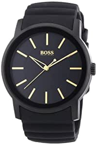 Hugo Boss - 1512743 - Montre Homme - Quartz Analogique - Cadran - Bracelet Silicone Noir