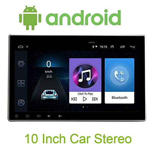 Sypher Universal Android 10 inch Touch Screen Double Din Car Stereo DVD MP5 Player 2 DIN (Android 8.1) Car Player with Navigation/GPS/WiFi/Bluetooth Full HD 1080P 1GB RAM/16GB Inbuilt Memory