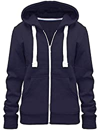 5d7a321abb Urban Diva Ladies Girl WomensNEW Plus Size Zip up Sweatshirt Hooded Hoodie  Coat Jacket Top UK