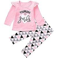 ZODOF Camisa de Manga Larga para niños Recién Nacido bebé niño bebés niñas  Carta Tops Estampados 2ac59896c79
