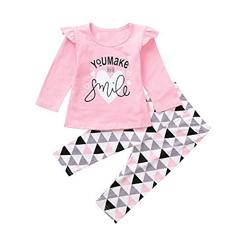 3298bd28d ZODOF Camisa de Manga Larga para niños Recién Nacido bebé niño bebés niñas  Carta Tops Estampados