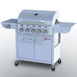 Broil-master barbecue a Gas 5+ 1per de/AT/CH con 5masterizzatori principale con doppia parete copertura & termometro (colore a scelta) TÜV Rheinland Bauart