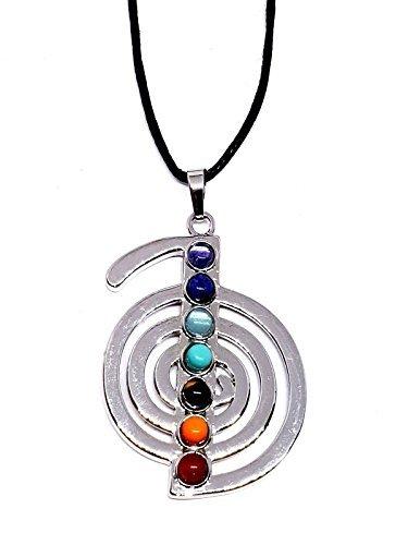 Eclectic shop uk cho ku rei guarigione reiki cavo collana placcata argento gem pendente