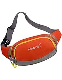 Generic Unisex Waterproof Sport Fanny Pack Waist Bum Bag Fitness Running Jogging Belt Chest Pouch - Orange