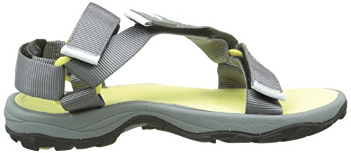 The North Face Litewave, Sandales de Sport Femme Multicolore (Monument Grey/Chiffon Yellow)