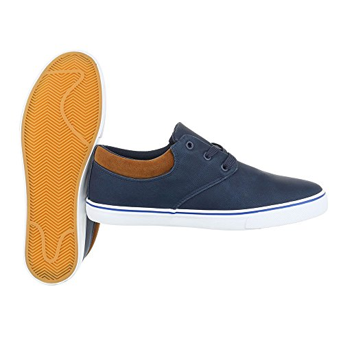 Sneakers Oxford Sneakers Oxford Stringate Stringate Ital-blu Scuro